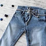 Детский летний джинсовый костюм на девочку 810. Размер 92 см, 98 см, 104 см, 110 см, фото 2