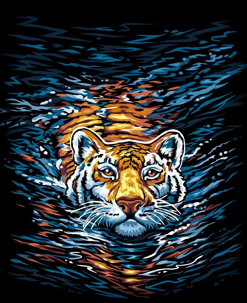Картина по номерам. Тигр 40*40см KpNe-02-03