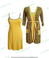 Ночнушка с халатом,комсомольский женский трикотаж,женская одежда от производителя,интернет магазин,кулир