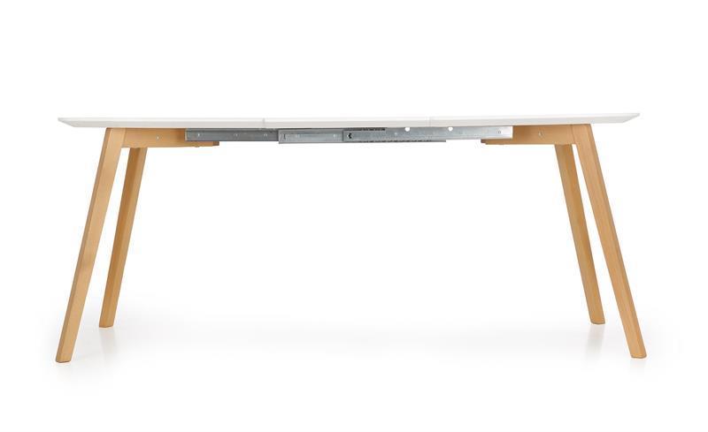 Стол обеденный деревянный KAJETAN 150/200 Halmar белый/дуб медовый