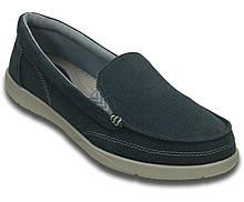 Туфли женские мокасины лоферы Кроксы Валу оригинал / Crocs Women`s Walu II Canvas loafer (202489), Синие 40