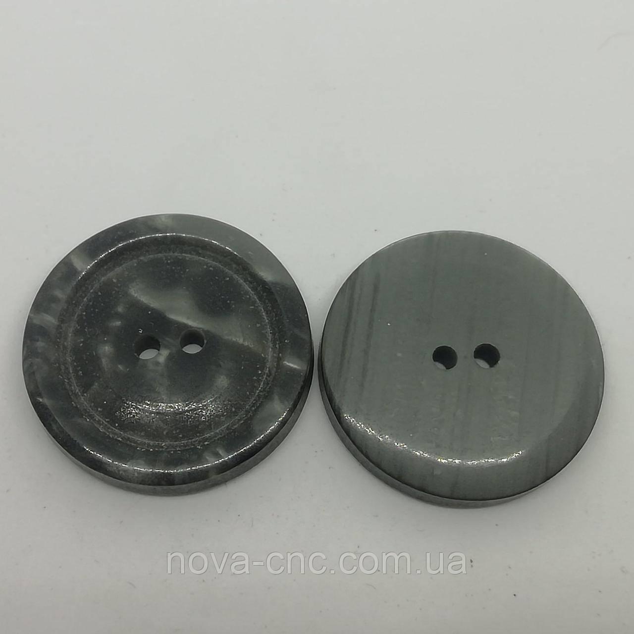 Пуговица пластмассовая 28 мм Цвет серый Упаковка 420 штук