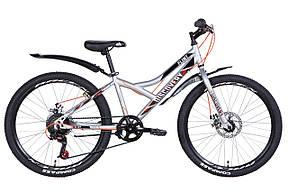 """Велосипед для підлітка 24"""" Discovery Flint DD 2021 рама 13"""" сріблястий, фото 2"""