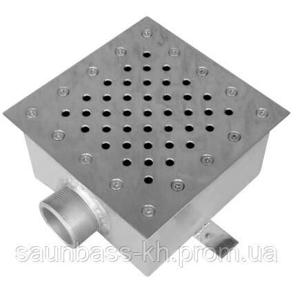 Слив донный Aquaviva AISI 304 (250х250 мм) квадратный, под бетон
