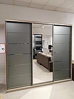 Шкаф-купе готовый с графитовым зеркалом А-2253 Размер 2220*600*2400