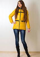 Стильная молодежная куртка зимняя Глория с удлиненной спинкой и капюшоном