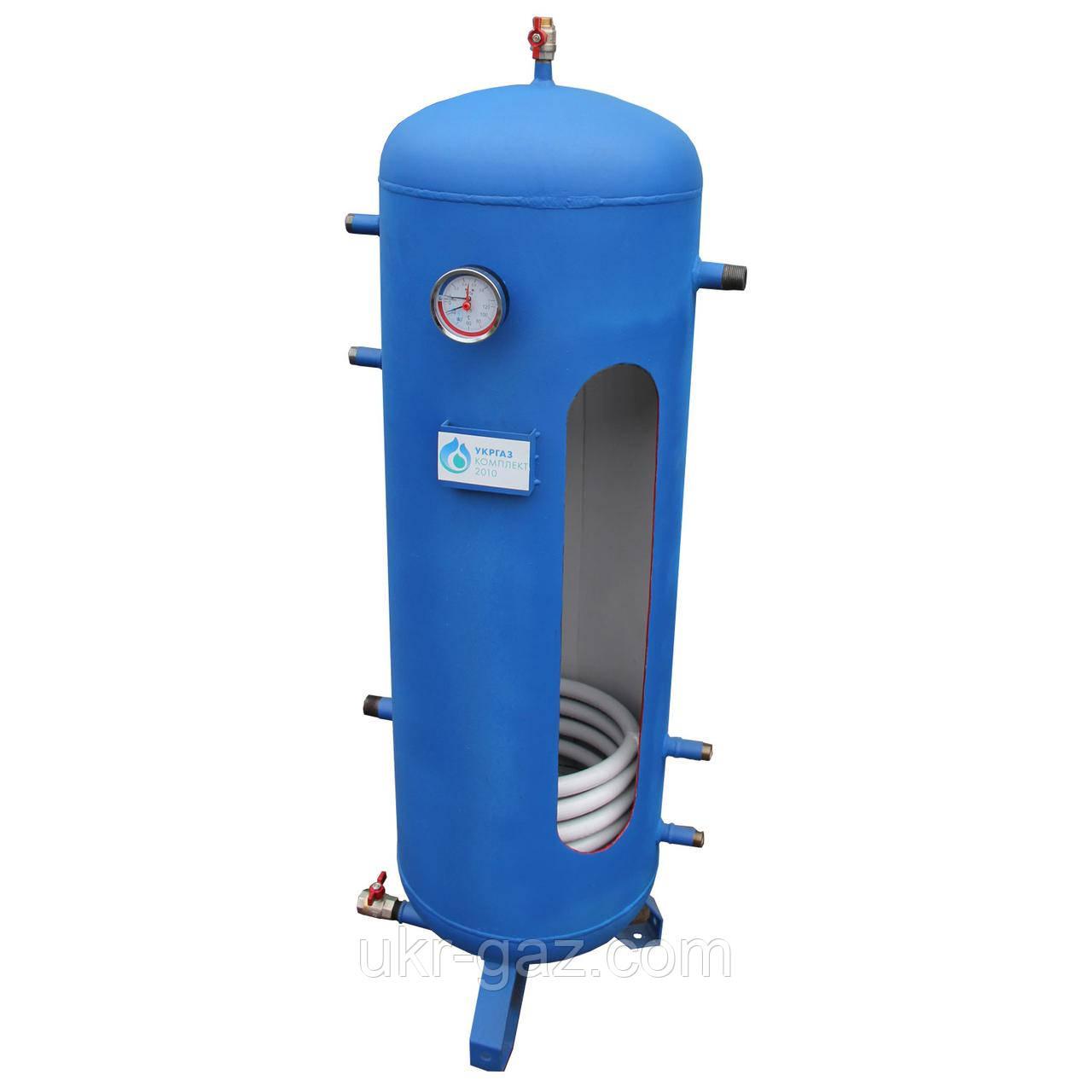Теплобак без утеплителя, 1 змеевик на 1430 литров (Теплоаккумулятор)