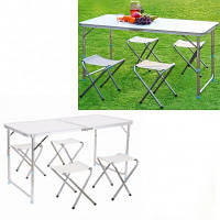 Стіл розкладний + 4 стільці Styleberg 12060 ТБ