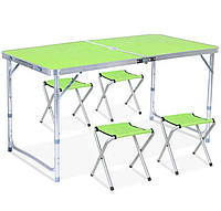 Стіл розкладний + 4 стільці Folding table (N0.4) зелений