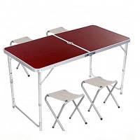Стіл розкладний + 4 стільці Folding table 5464 червоний