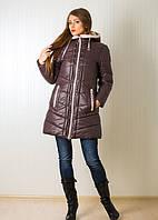 Красивая женская куртка зимняя с капюшоном и шарфиком в комплекте