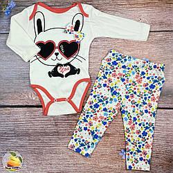 """Боді і штанці """"Зайчик"""" для малятка Розміри: 3,6,9,12 місяців (01429-3)"""