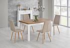 Стол обеденный деревянный TIAGO Halmar белый/ланцелот, фото 8
