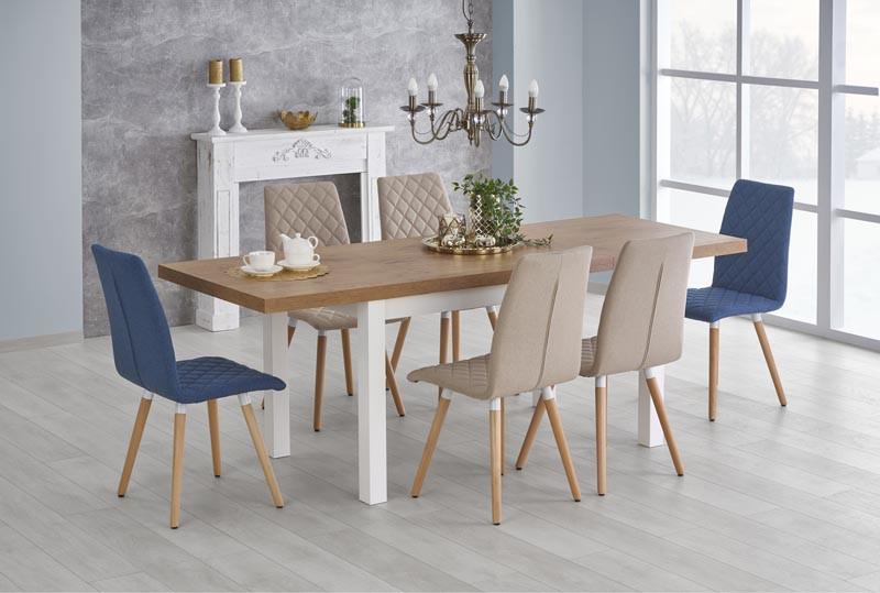 Стол обеденный деревянный TIAGO Halmar белый/ланцелот