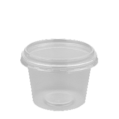 Соусница пластиковая с крышкой FT154 100мл 1уп/100шт