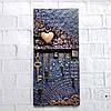 Настінна ключниця в стилі лофт Подарунок на новосілля, річницю, ювілей Ручна робота