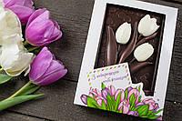Шоколадные цветы к празднику 8 марта