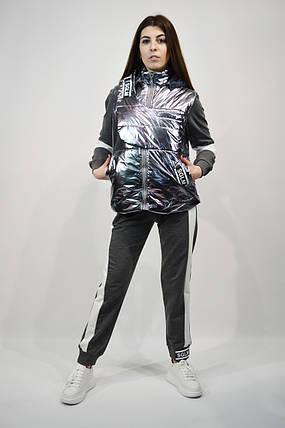 Костюм женский тройка SOGO 081 S Серый, фото 2
