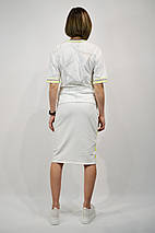 Костюм женский SOGO 182 L Белый юбка и футболка, фото 2