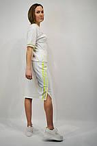 Костюм женский SOGO 182 L Белый юбка и футболка, фото 3