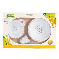 Набір посуду Baby Team білий, фото 1