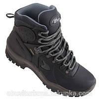 Зимние Ботинки GriSport кожа черные italy, Gritex