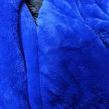 Куртка зимняя модная нарядная красивая оригинальная теплая чёрного цвета с для девочки., фото 3