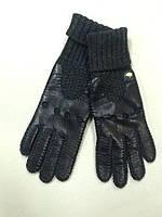 Перчатки Givanthy комбинированные кожа и вязка unisex