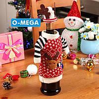 Новогоднее украшение на бутылку - Олень!, фото 1