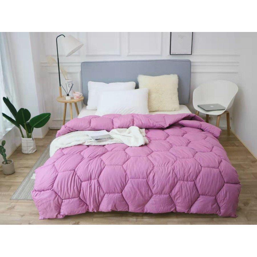 Одеяло зима ткань Микрофибра наполнитель Холлофайбер - Соты - 195х210 (лаванда)
