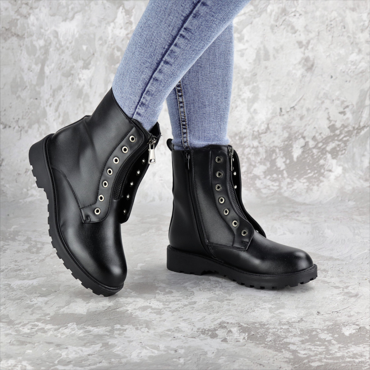 Ботинки женские Fashion Briz 2288 36 размер 23,5 см Черный