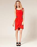 Оригинал. Полная распродажа. Цены закупки. Платье Karen Millen алого цвета под поясок KM70308