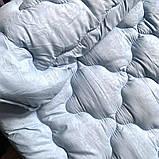 Ковдра зима тканина Мікрофібра наповнювач Холофайбер 300грм/м2 - 145х210 (блакитний), фото 2
