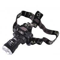 Налобный фонарик  POLICE BL-6879xpe с 3 кратным зумом, фото 1