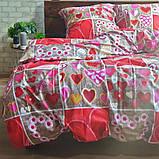 Двоспальне постільна білизна Бязь Gold - Люблю тебе, фото 2