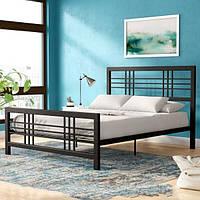 Кровать двухспальная в стиле Лофт, ЛЛ14