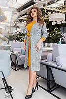 Повсякденне жіноче плаття з принтом клітка з 50 по 54 розмір, фото 2