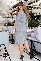 Повсякденне жіноче плаття з принтом клітка з 50 по 54 розмір, фото 3