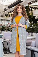 Повсякденне жіноче плаття з принтом клітка з 50 по 54 розмір, фото 4