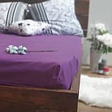 Простирадло на гумці з Бязі Голд - Колір фіолетовий - 90х200 см, фото 2