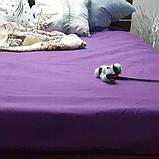 Простирадло на гумці з Бязі Голд - Колір фіолетовий - 90х200 см, фото 3