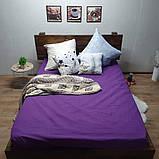 Простирадло на гумці з Бязі Голд - Колір фіолетовий - 90х200 см, фото 5