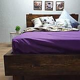 Простирадло на гумці з Бязі Голд - Колір фіолетовий - 90х200 см, фото 6