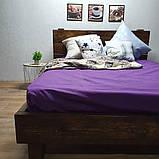 Простирадло на гумці з Бязі Голд - Колір фіолетовий - 90х200 см, фото 7