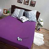 Простирадло на гумці з Бязі Голд - Колір фіолетовий - 90х200 см, фото 8
