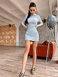 Спортивне коротке плаття з трикотажу рубчик з капюшоном і мітенками (р. 42-46) 71032073, фото 10