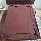 Простирадло на гумці з Бязі Голд - Колір коричневий - 90х200 см, фото 2