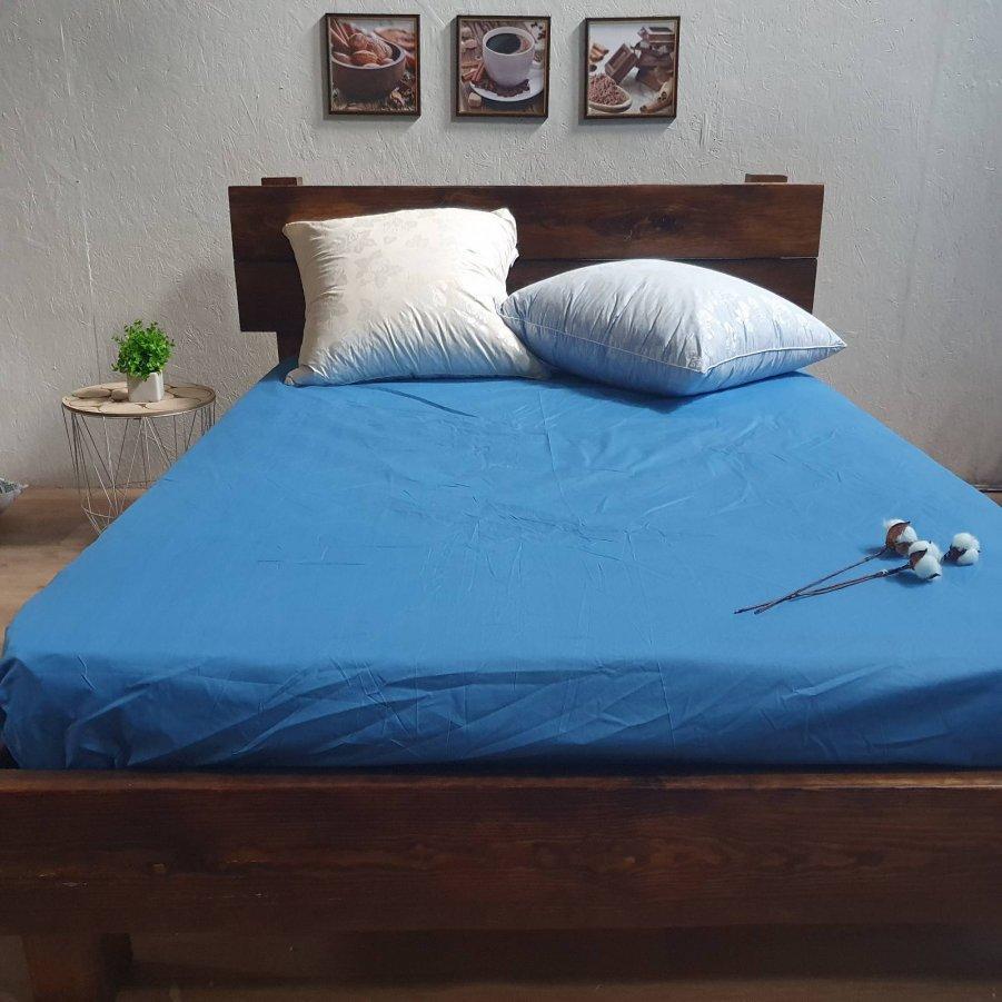 Простирадло на гумці з Бязі Голд - Колір синій - 90х200 см