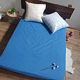 Простирадло на гумці з Бязі Голд - Колір синій - 90х200 см, фото 2