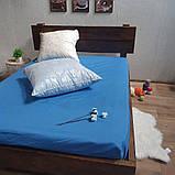 Простирадло на гумці з Бязі Голд - Колір синій - 90х200 см, фото 3